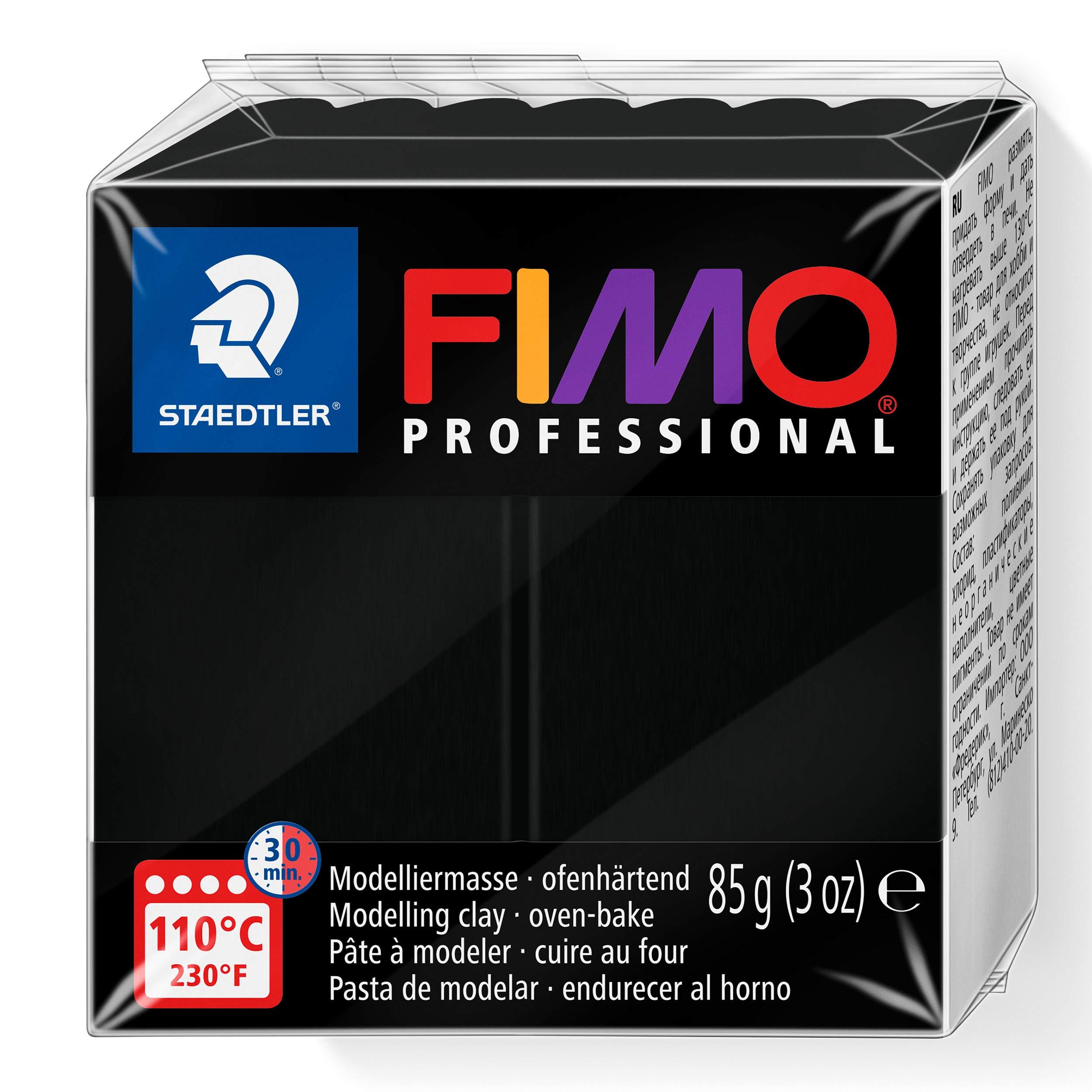 Staedtler Fimo professional Individual Standard Blocks 85g, Black, 85 g