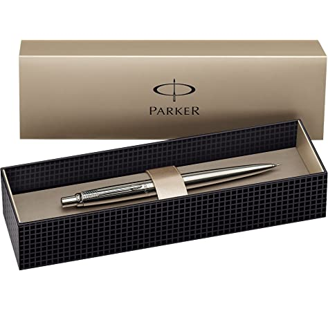Parker Jotter - Bolígrafo de punta redonda, color plata: Amazon.es: Oficina y papelería