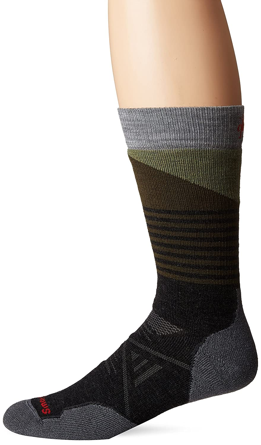 Smartwool Men's PhD Outdoor Medium Pattern Crew Socks (Charcoal) Large SW001209-003-L