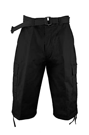 445c7097 BEYOND THE LIMIT Heavy Cargo Shorts with Belt P210A | Amazon.com