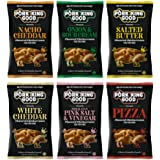 Pork King Good Pork Rinds Variety 6 Pack (Chicharrones) Keto Snacks