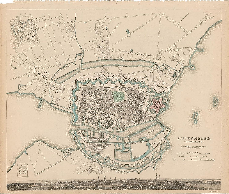 Copenhagen Map Europe.Amazon Com Historic Pictoric Map Europe Copenhagen 1837
