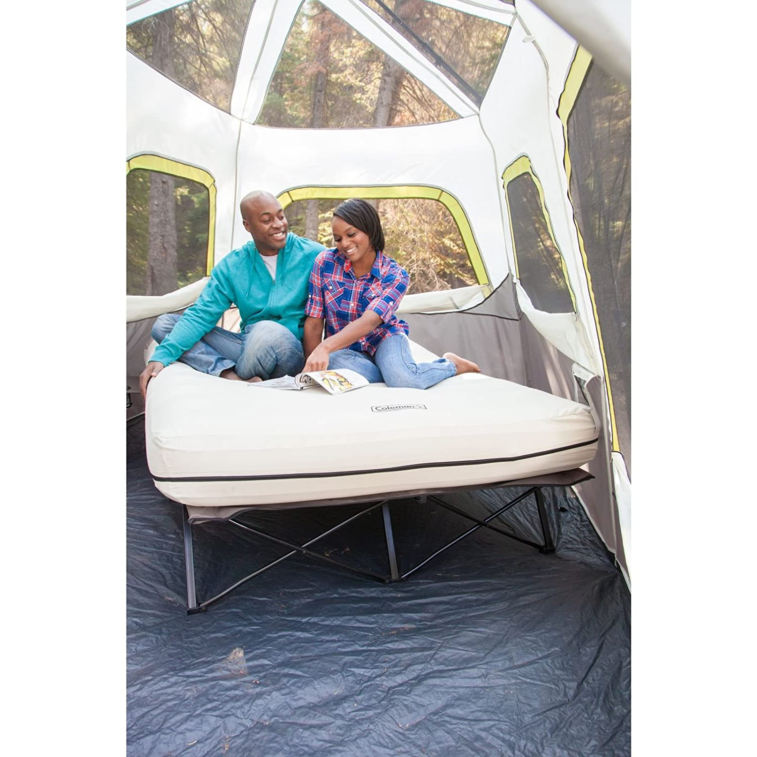 Coleman Cot Queen Framed Airbed 2000020270: Amazon.co.uk: Sports & Outdoors