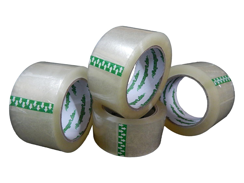 Aquagart 6 rotoli di nastro adesivo trasparente, professionale, extra forte, 50 mm x 66 m, 60 micron