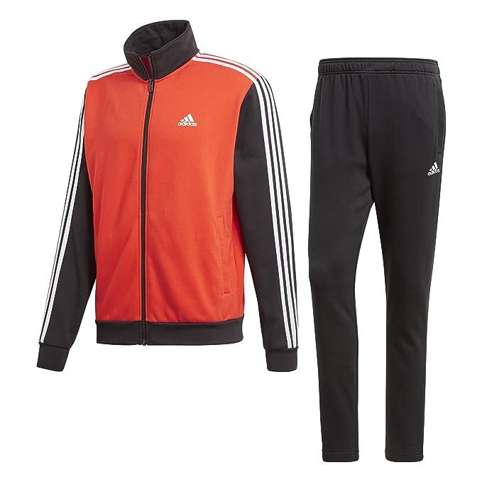 uomo nero and red adidas tracksuit