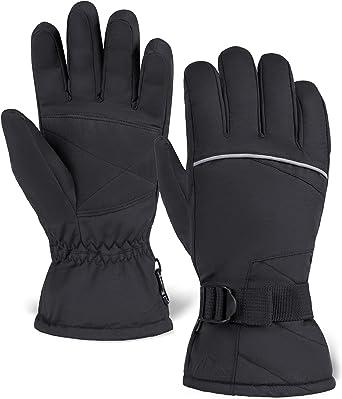 BOSONER Ski Snowboard Gloves Cold Weather Touchscreen Snow Gloves for Mens Kids Skiing,Snowboarding Womens Waterproof Winter Warm Gloves