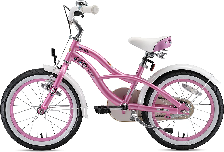 Bikestar | Bicicleta para niños y niñas 16 Pulgadas | Color Rosa | A Partir de 4 años | 16