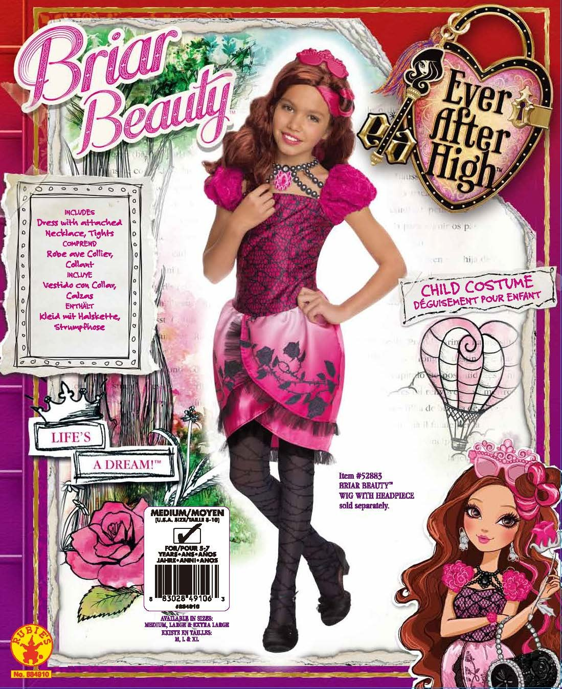 3f6a59a4d9 Amazon.com  Rubies Ever After High Child Briar Beauty Costume