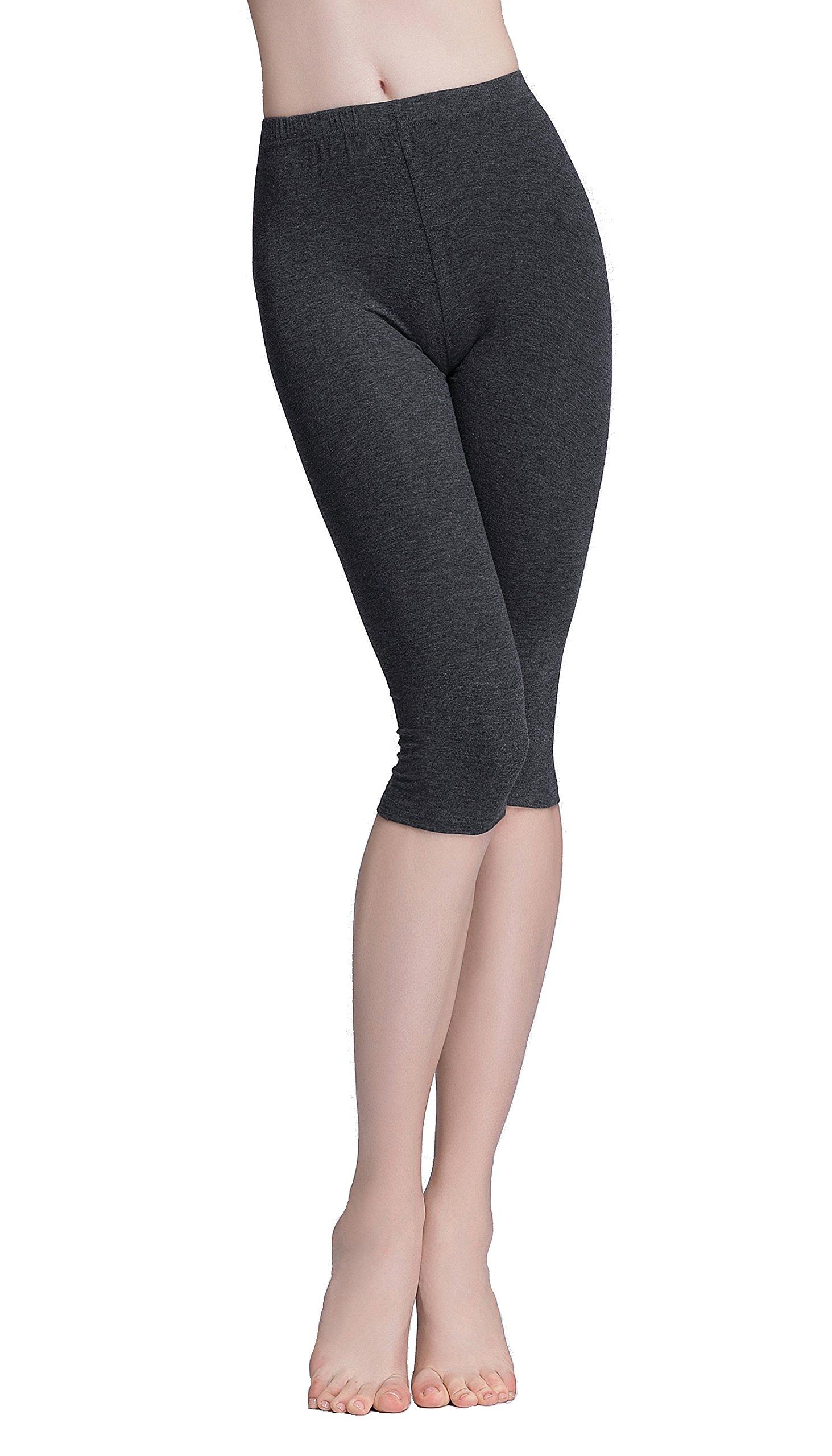 Vinconie Women Activewear Capris Stretchy Exercises Sexy Workout Leggings Soft by Vinconie (Image #3)