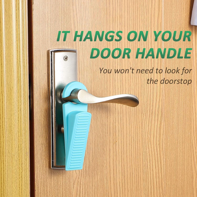 6 Pieces Rubber Hook Type Door Stopper Control The Size of The Door Gaps and Prevent The Lockouts Hook Door Stop Works on All Floor Surfaces Stackable Hook Door Wedge
