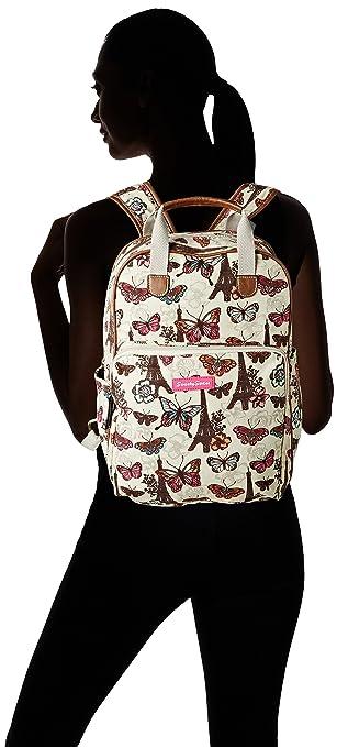 Amazon.com: Noel Paris Butterfly Floral Print Essex Backpack School Bag & Ipad Case in Beige - SWANKYSWANS: Computers & Accessories