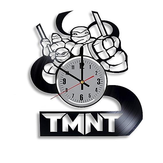 Reloj de Vinilo de Tortugas Ninja - TMNT Art Hecho a Mano ...