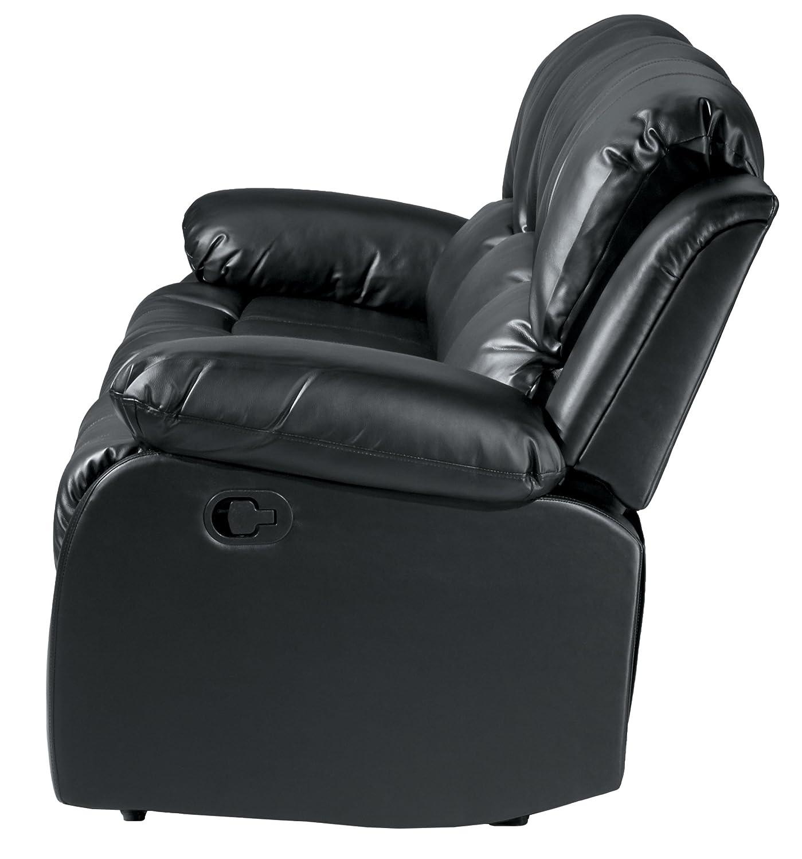 Amazon Homelegance Double Reclining Sofa Black Bonded