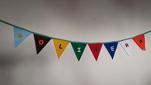 Cartel para fiesta con fieltro/banderines Personalízala con ...