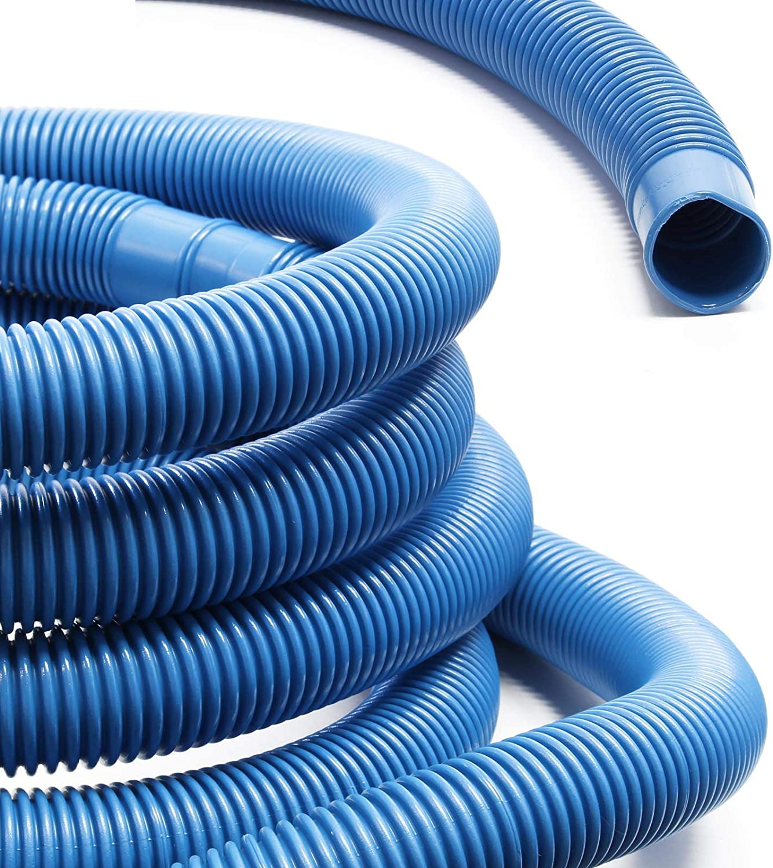 WilTec Manguera Piscina Azul con Manguitos 32mm 6m 165g/m Tubo plástico Piscinas jardín Fabricado en Europa