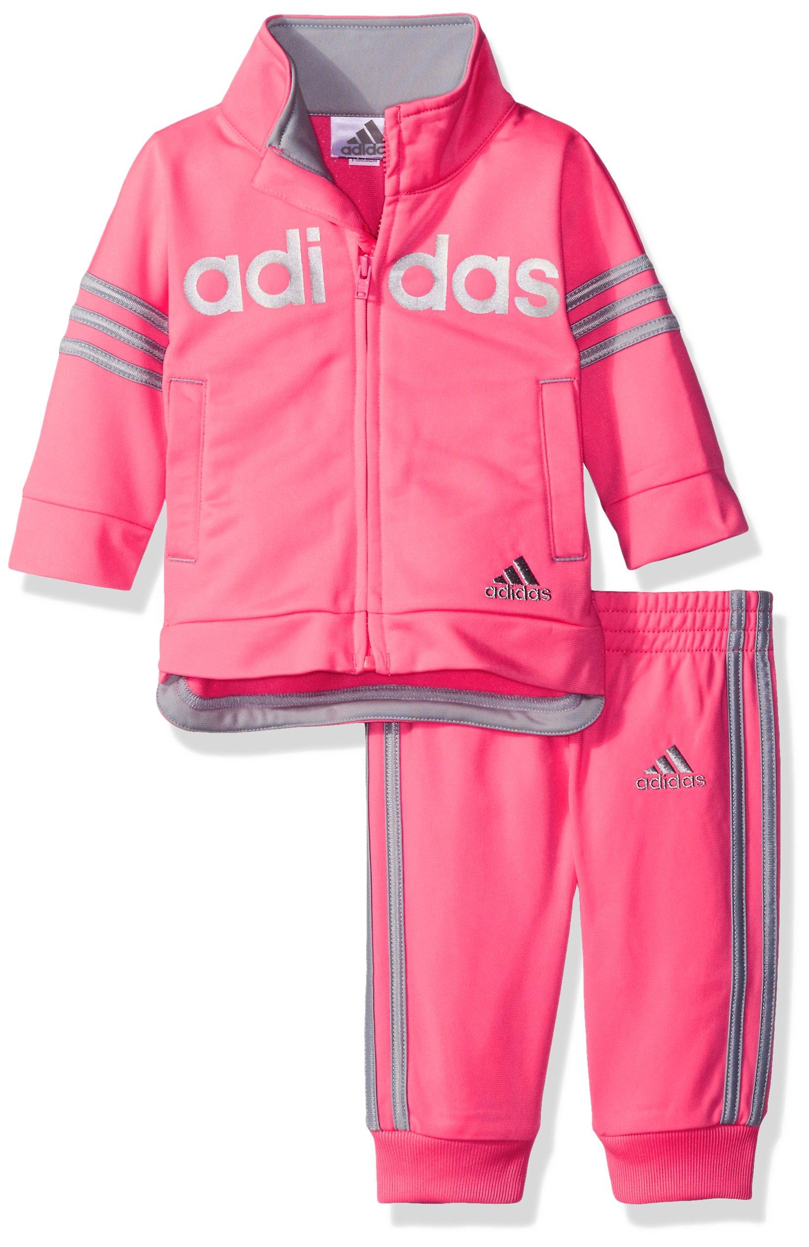 ff17d1c62 Galleon - Adidas Baby Girls' Zip Jacket And Pant Set, Ultra Pop Adidas, 6  Months