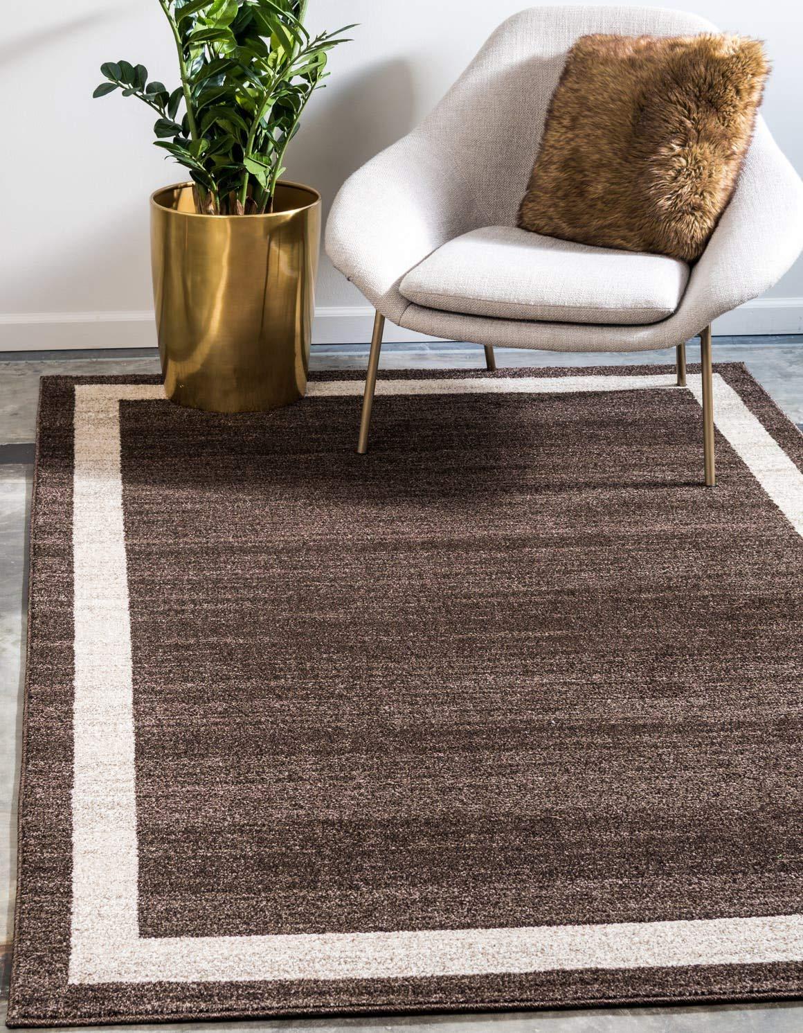 Unique Loom Del Mar Collection Contemporary Transitional Brown Area Rug 6 0 x 9 0