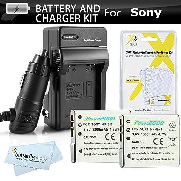 Amazon.com: Kit de batería y cargador para Sony Cyber-Shot ...