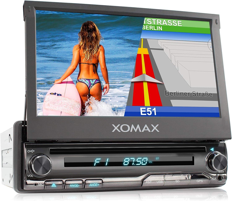 XOMAX XM-DN776 Radio de Coche con Navegador GPS I Mapas de Europa I Bluetooth Manos Libres I 7