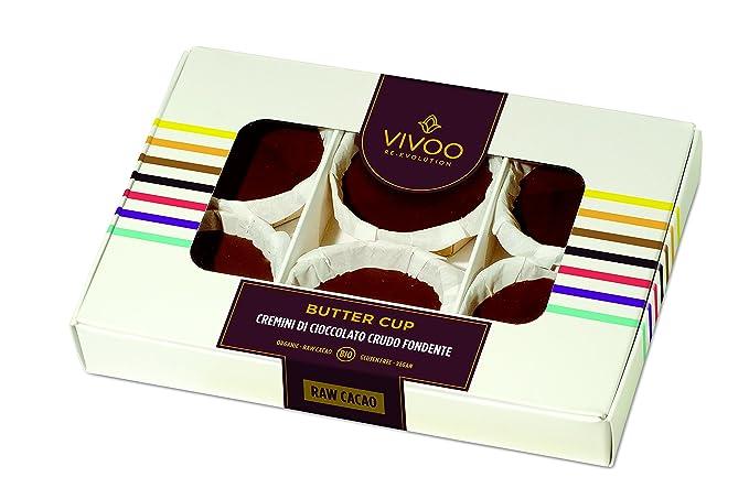 VIVOO 6 Butter cups Biológicos Crudos | Sin Azúcares Añadidos | Sin Lactosa, Sin Gluten