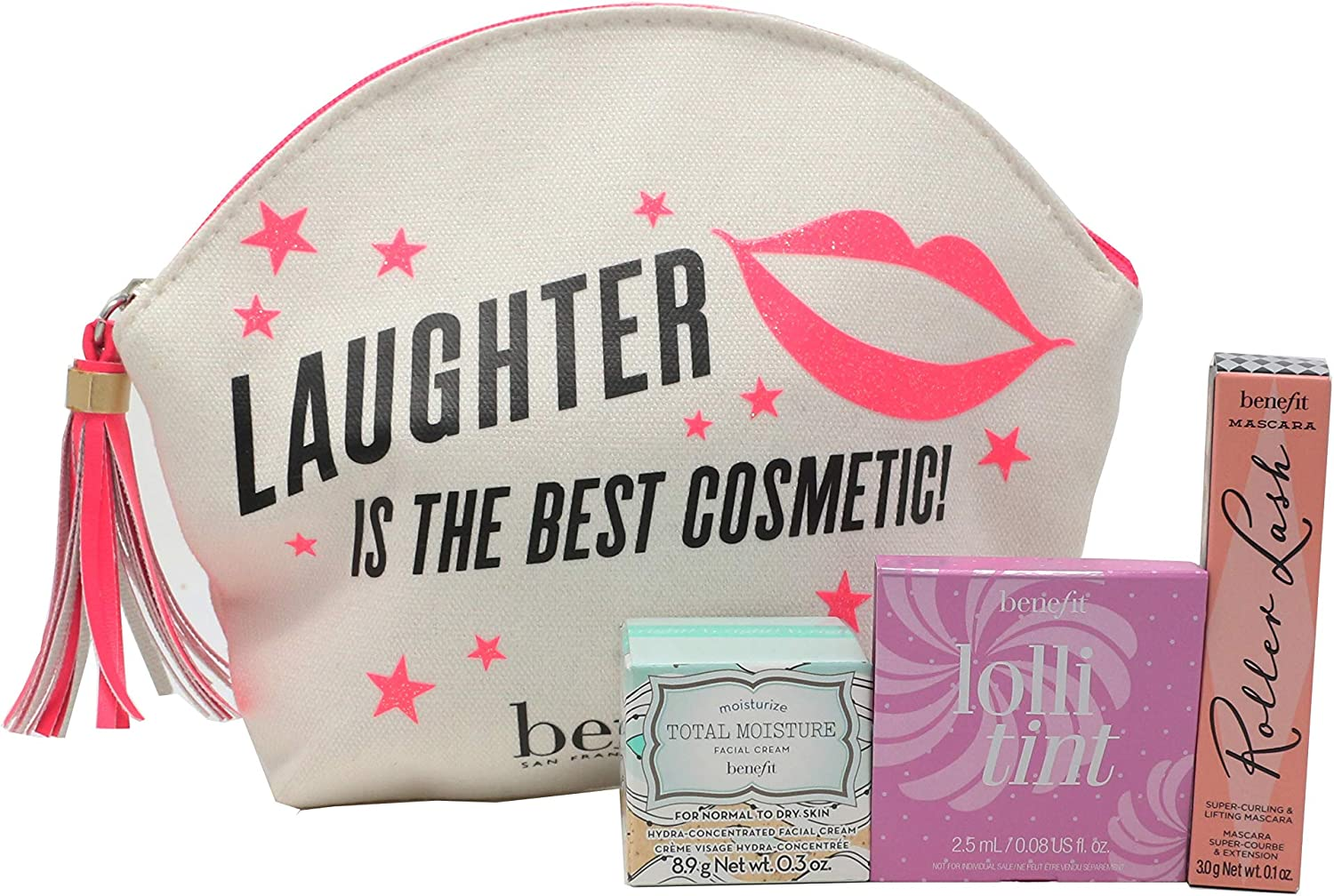 Benefit Laughter Is The Best Cosmetic! 4-Piece Set 0.1oz/3ml New: Amazon.es: Belleza