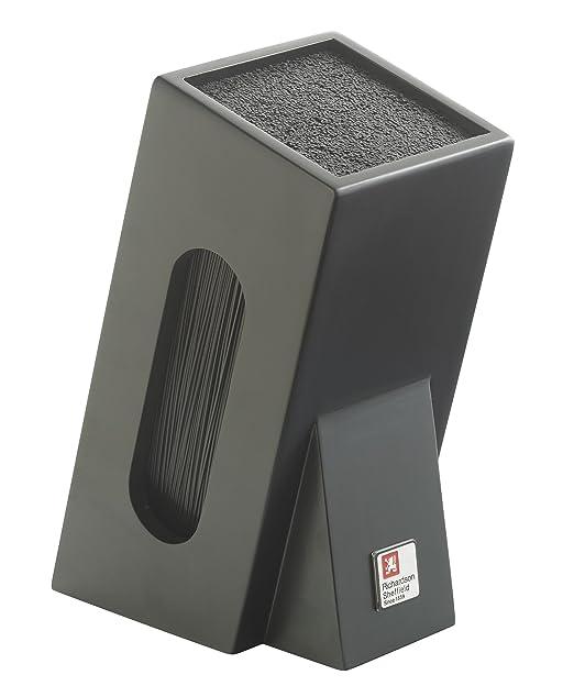 Richardson Sheffield R164HSRC58846 - Soporte para Cuchillos con Interior de cerdas, Color Negro
