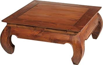 Great Teak Square Coffee Table Opium 80