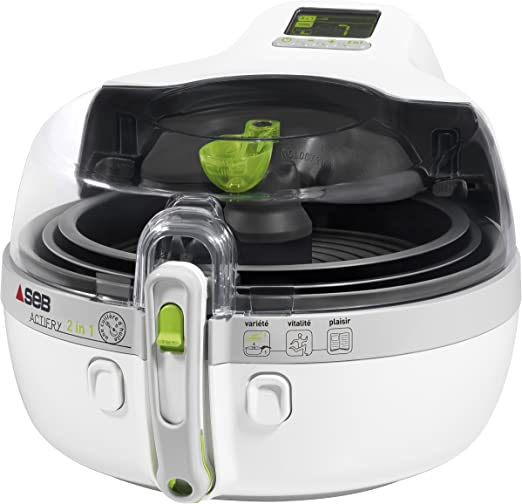 Seb YV960000 Actifry - Freidora 2 en 1, color blanco: Amazon.es: Hogar