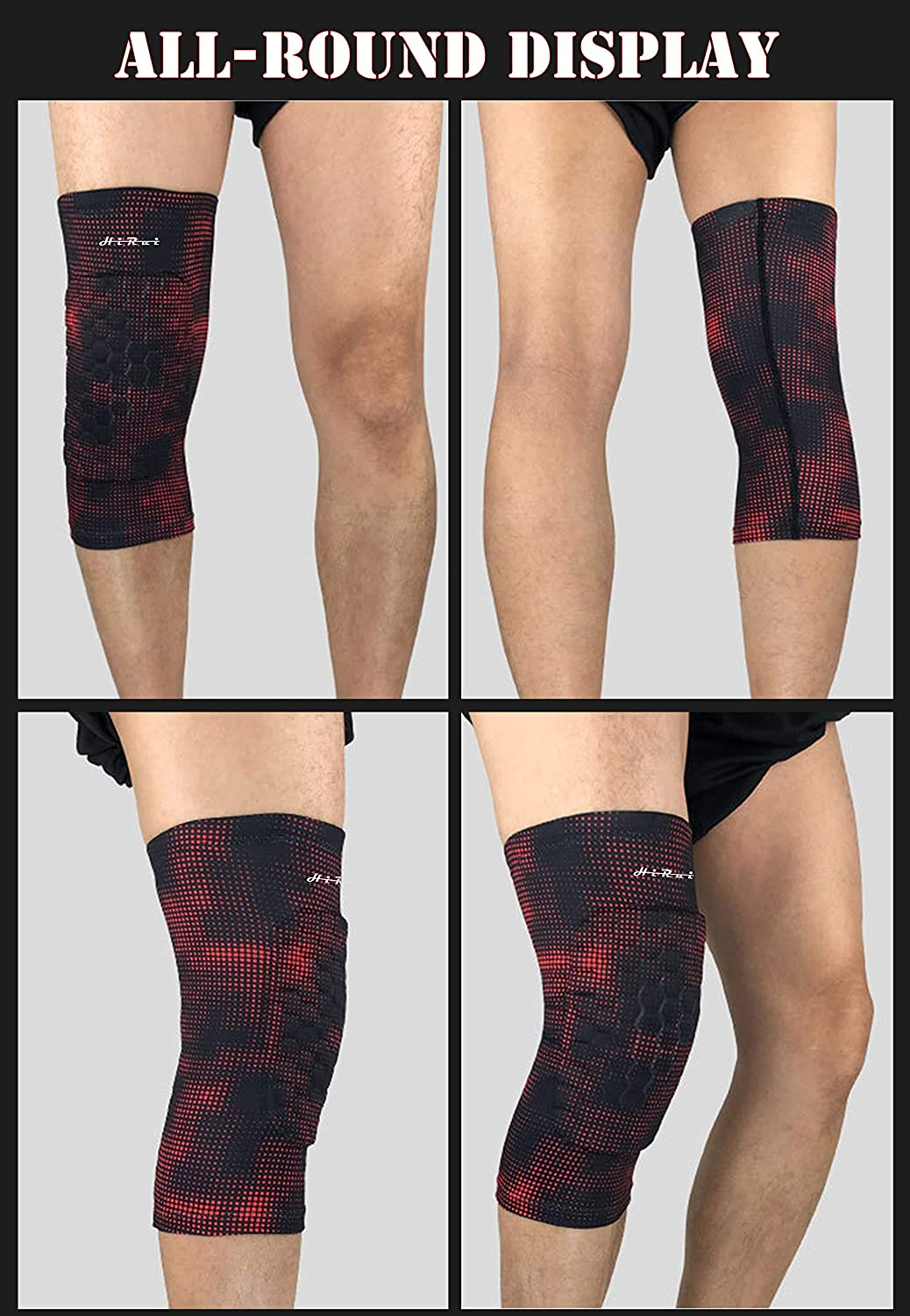 Honeycomb Crashproof Football Basketball Kneepad HiRui Knee Pad Knee Brace Knee Support Kids Youth Women Men Compression Leg Sleeves for Running Cycling Pain Relief