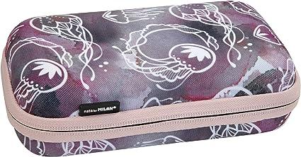 MILAN Kit semirrígido 2 estuches con contenido Sea Flow, rosa: Amazon.es: Oficina y papelería