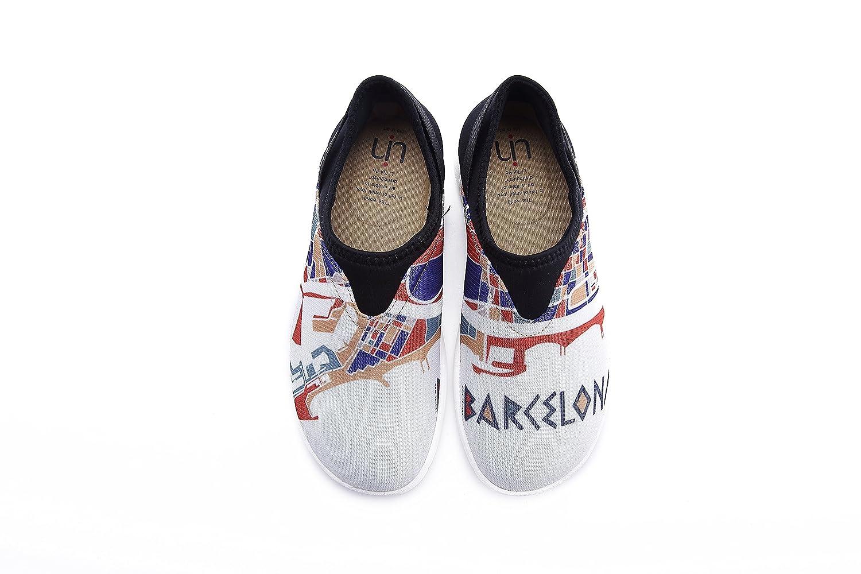 UIN Men's Barcelona Impress Casual Mesh Cloth Walking Shoes White 8.5 D(M) US