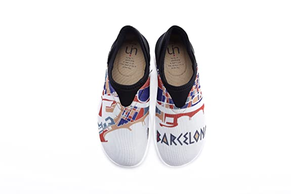 Men's Barcelona Impress Casual Mesh Cloth Walking Shoes White