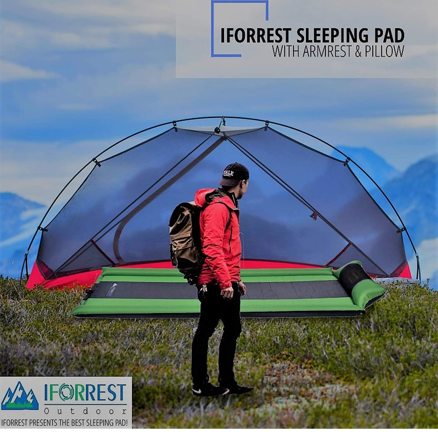 Ultra Comfortable IFORREST Sleeping Pad w//Armrest Support