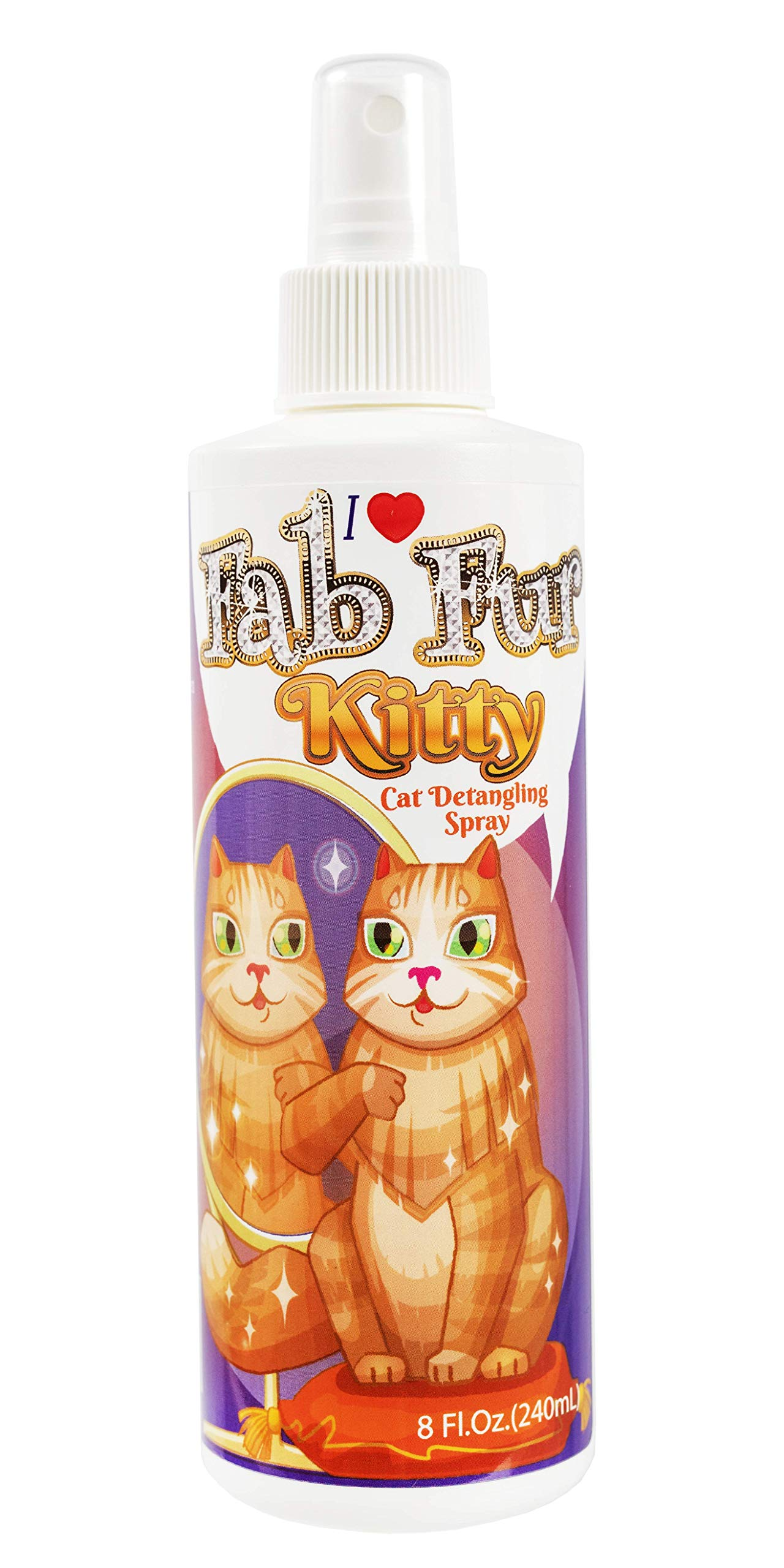Pet MasterMind Fab Fur Kitty Detangling Conditioning Spray 8 Oz - Best Cat Spray for Grooming and Dematting. Premium Natural Ingredients - Unscented as Kitty Prefers! by Pet MasterMind