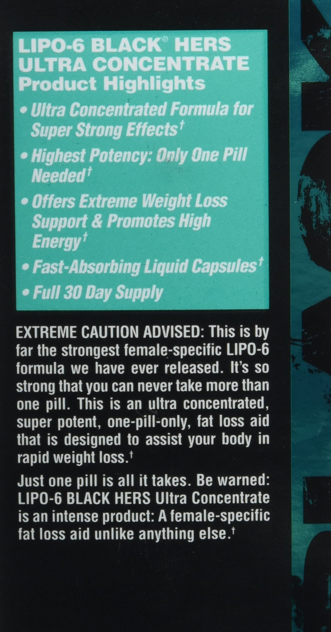 Nutrex Research Lipo-6 Black Hers Ultra Concentrate | Fat Burner Pills for Women | Hair, Skin, Nails Support | 60Count by Nutrex Research (Image #8)