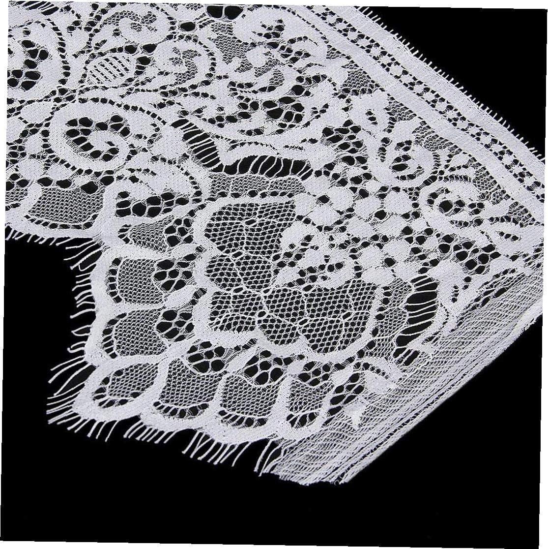 7.5in Blanca Recortar Recortar cortina del cord/ón del bordado de encaje Mantel Frontera Funda de novia de bricolaje ropa Recorte 19cm