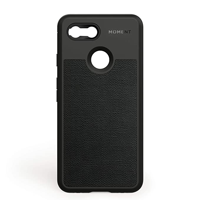 cheap for discount f4bc7 3d4e6 Pixel 3 Case || Moment Photo Case in Black Canvas - Thin, Protective, Wrist  Strap Friendly case for Camera Lovers.