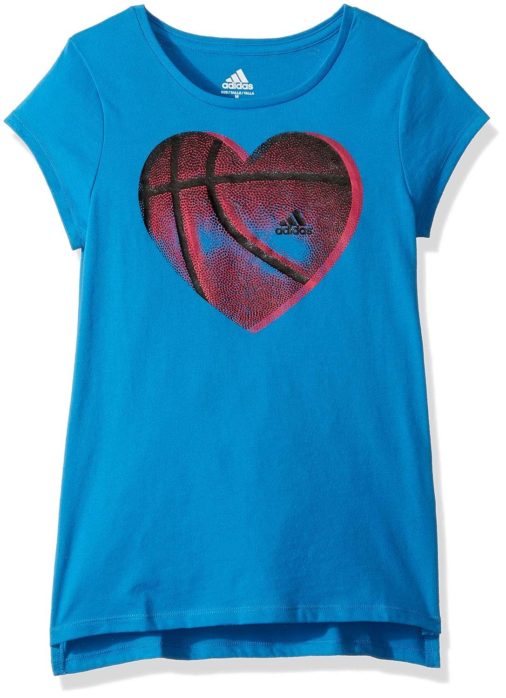 adidas Girls' Big Short Sleeve Graphic Tee Shirts