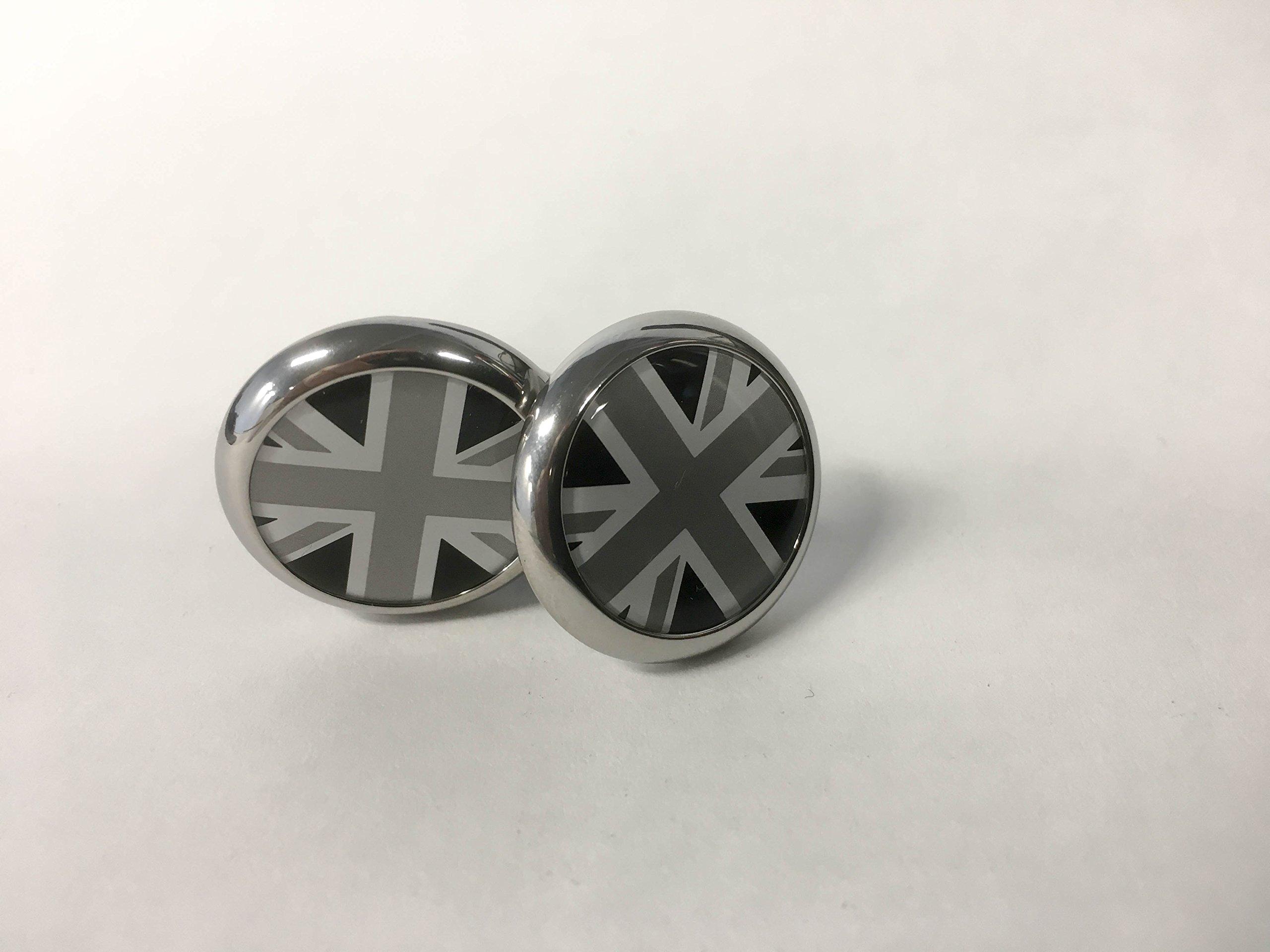 MINI COOPER Door Lock Caps/ Black Jack, 2 caps per box