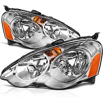 Amazoncom Acura RSX Black Dual Halo LED Projector HeadlightsSmoke - 2002 acura rsx type s headlights