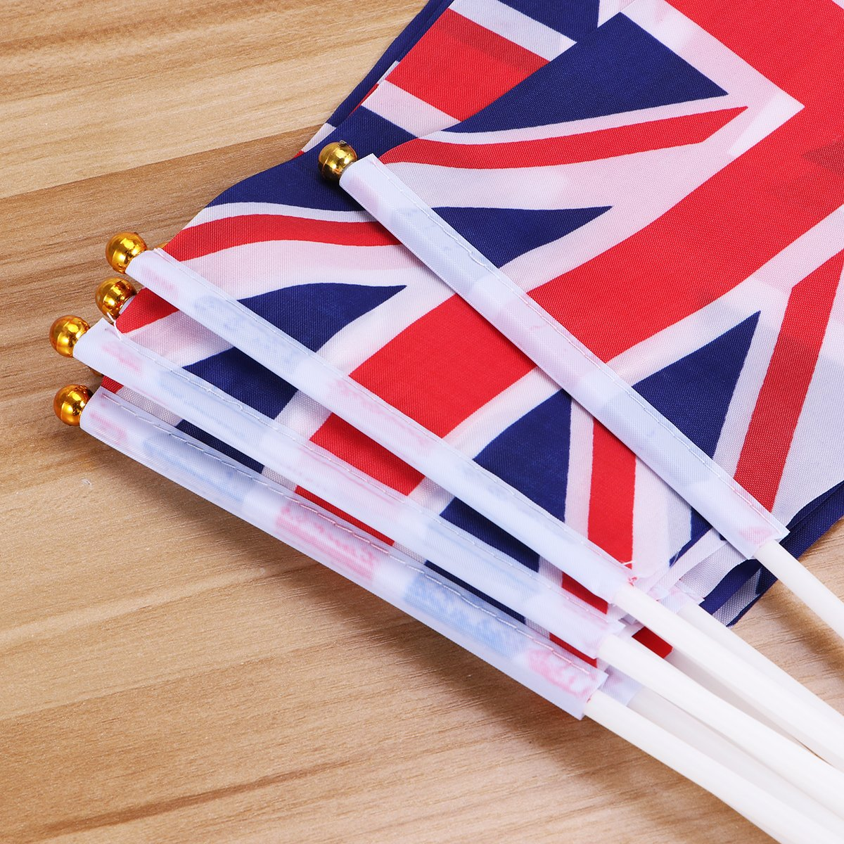 100pcs Union Jack Hand Waving Flag Royal Jubilee UK GB Great Britain Flags