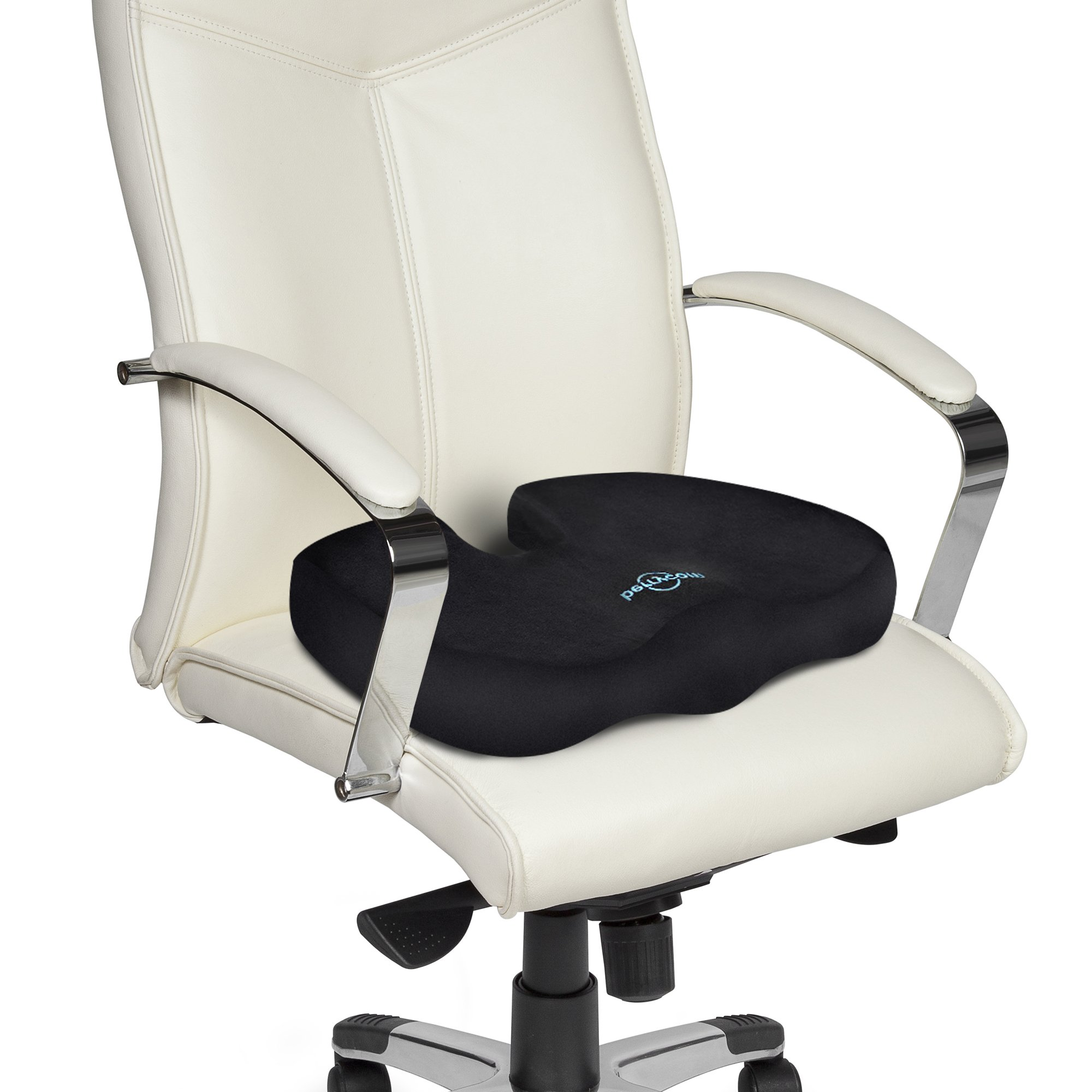 Coccyx Seat Cushion - Comfortable & Supportive Memory Foam with Orthopedic Design Relieves Back, Sciatica and Tailbone Pain. Our Seat Pillow is great for office chair, car seat, wheelchair, plane by Berrycom (Image #5)