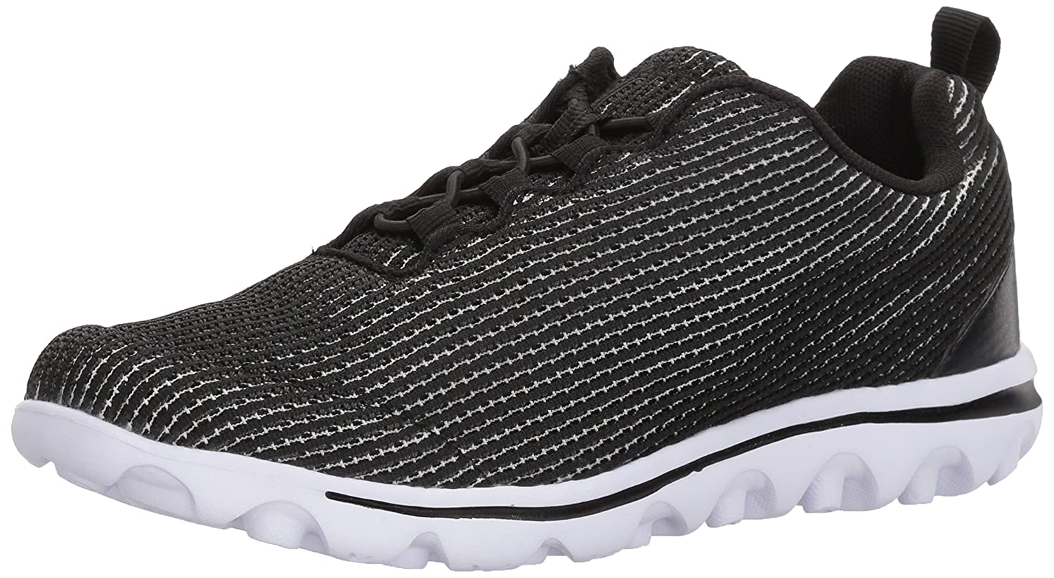 Propét Women's TravelActiv Xpress Sneaker B072JN6Y5X 7 W US|Black/White
