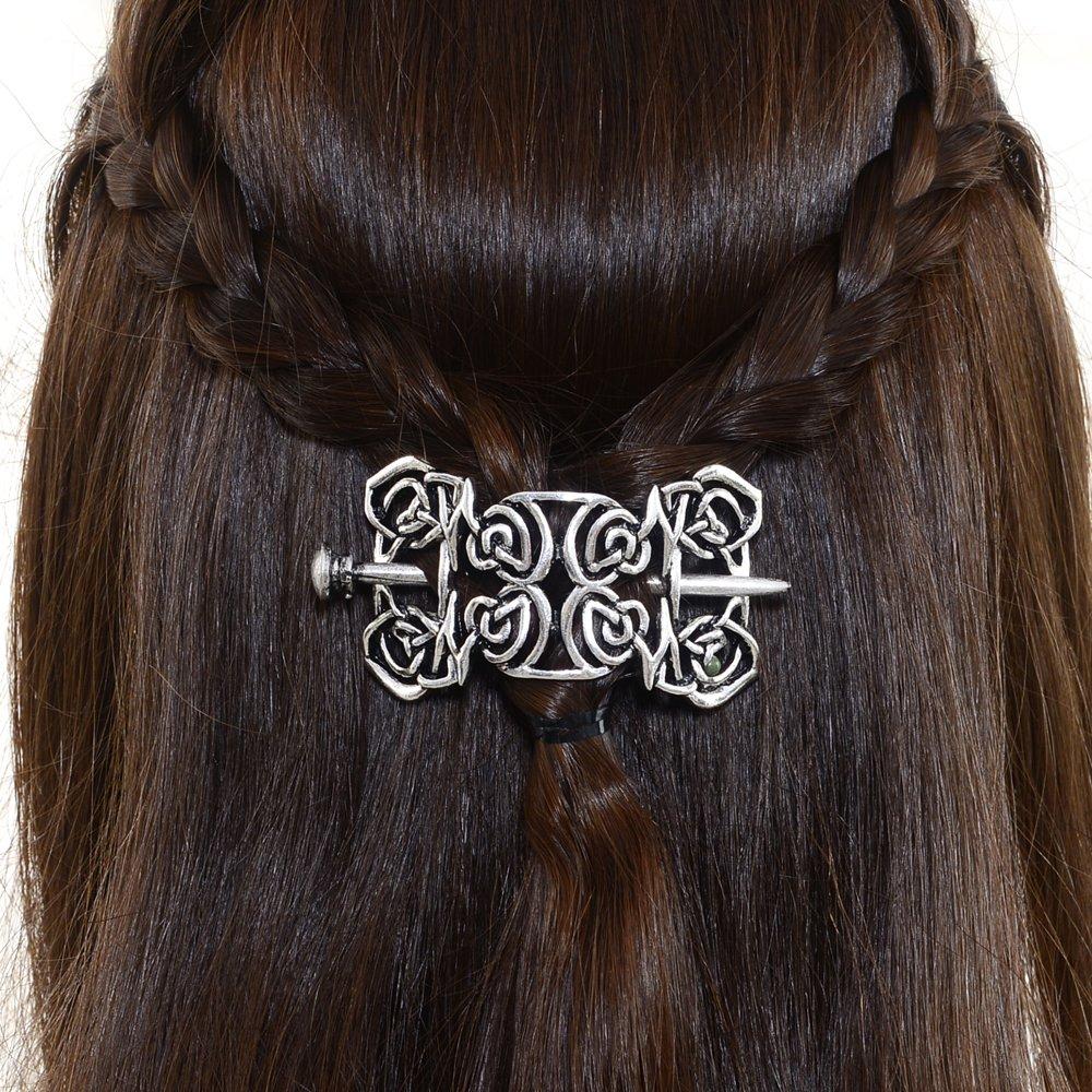 Vintage Retro Metal Viking Celtic Hairpin Hair Stick Knots Hair Pins Crown Women