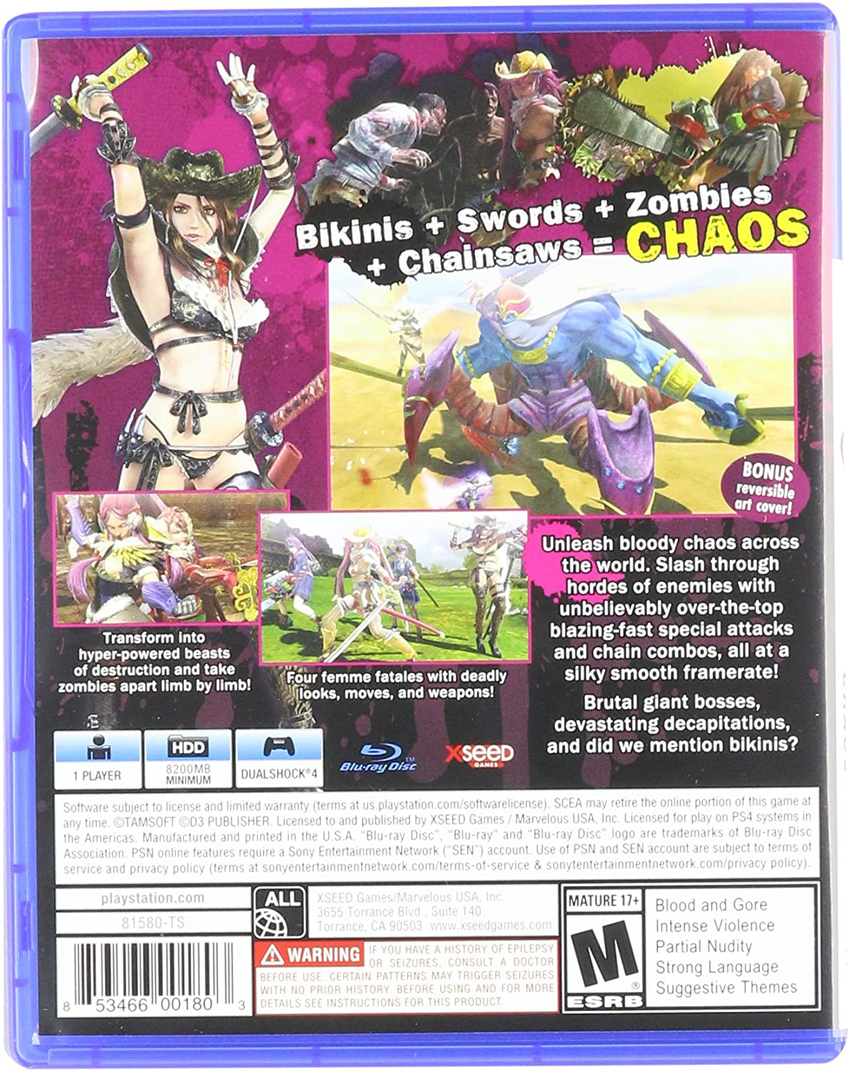 Amazon Com Onechanbara Z2 Chaos Playstation 4 Marvelous Usa