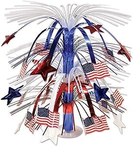 Beistle Flag Cascade Centerpiece, 18-Inch