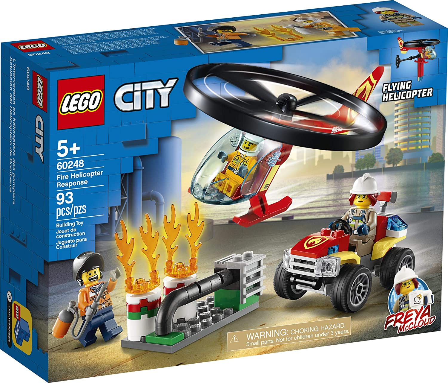 93 Pieces LEGO City Fire Helicopter Response 60248 Firefighter Toy Fun Building Set for Kids New 2020