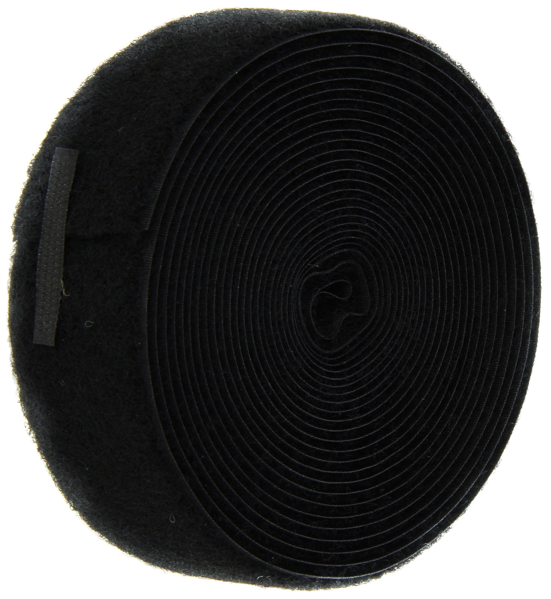 VELCRO 1005-AP-PB/L Black Nylon Woven Fastening Tape, Sew-On Loop Only, Standard Back, 1-1/2'' Wide, 15' Length