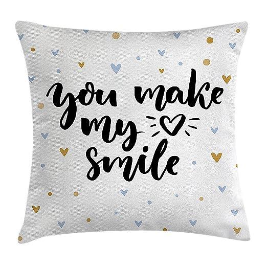 Pillow hats Funda de cojín Decorativa con Frase You Make My ...