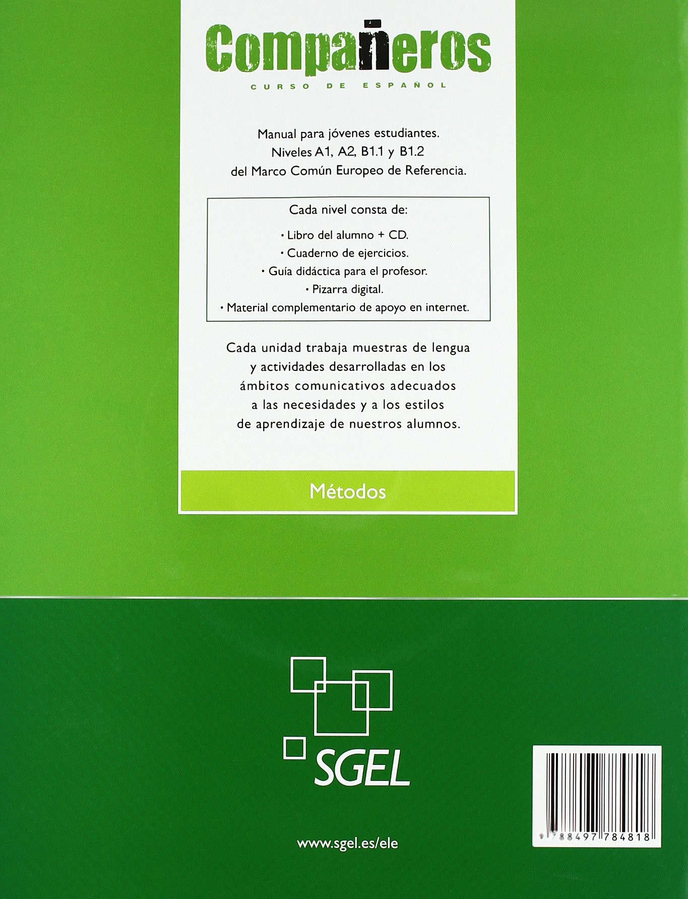 Companeros 4: Student Book + CD (Spanish Edition): Ignacio ...